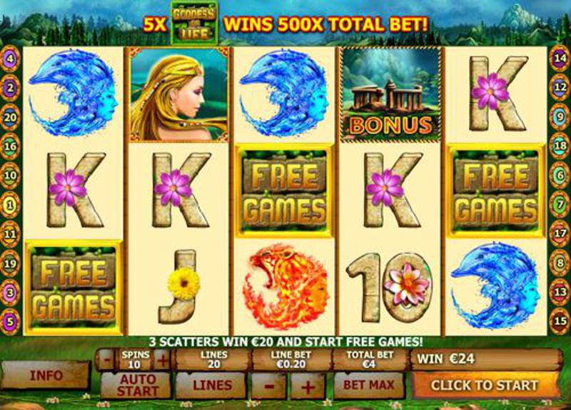 Playtech Releases New Slot title Goddess of Life