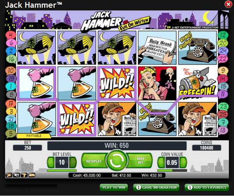 Jack Hammer Video Slot Review