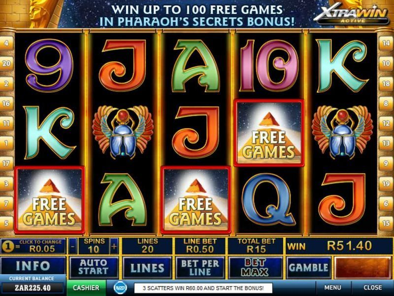 online casino game pharaoh s