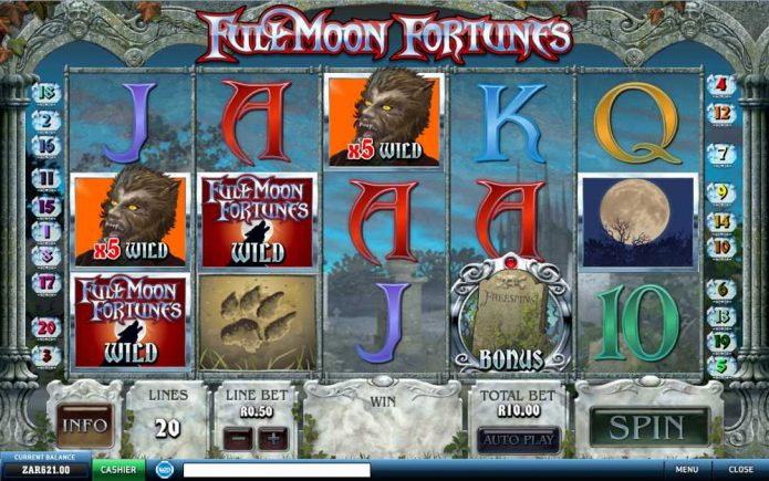 Play Full Moon Fortunes Slot Game