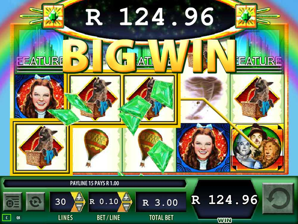 The Wizard of Oz Slot - Big Win