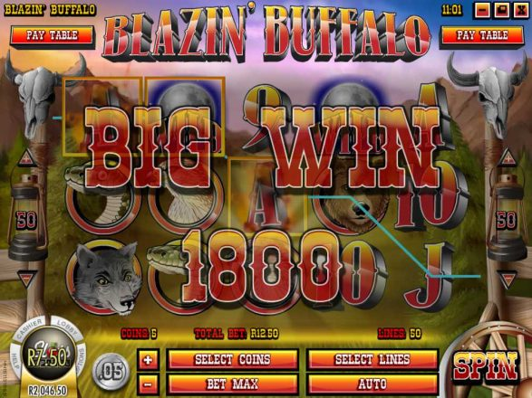 Blazin Buffalo Slot GAme