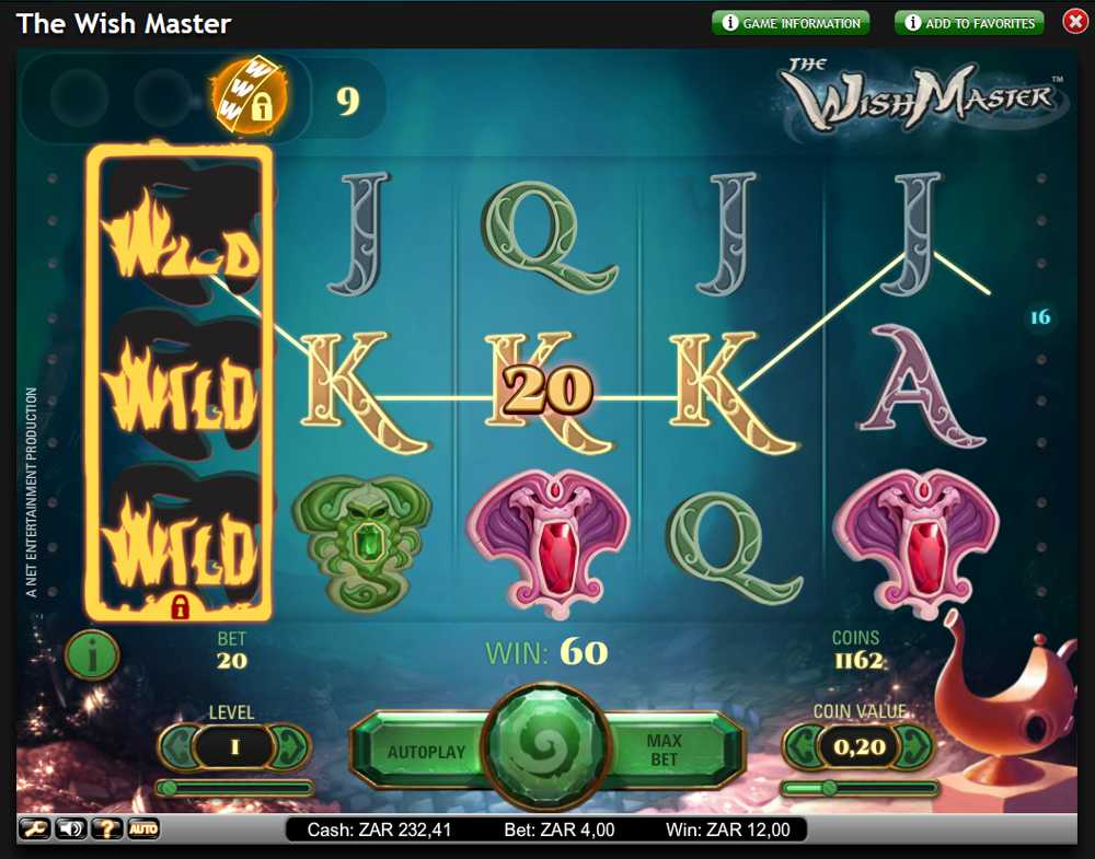 The Wish Master Slot Game