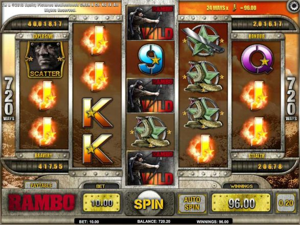 Play Rambo Slot