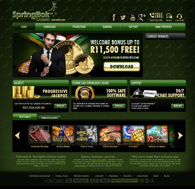 Shark Month at Springbok Casino Features Freeroll Slots Tournament
