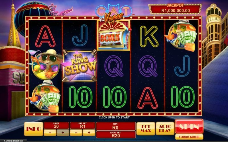Cat in Vegas™ Slot Machine Game to Play Free in Playtechs Online Casinos
