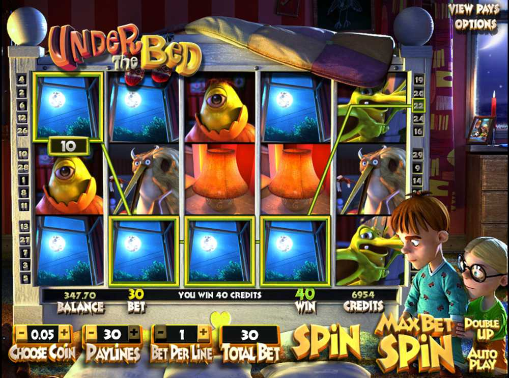 Under the Bed™ Slot Machine Game to Play Free in BetSofts Online Casinos