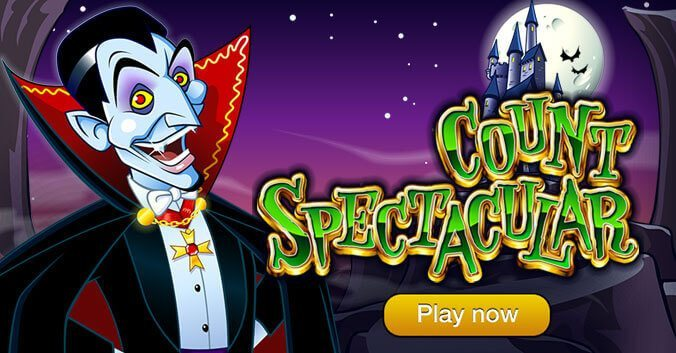 Comical Spook 'Count Spectacular' is Halloween Slot of the Month at Springbok Casino