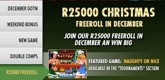 R25,000 Freeroll Slots Tournament This Month