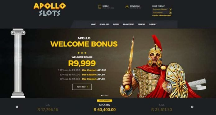 Apollo Slots Website