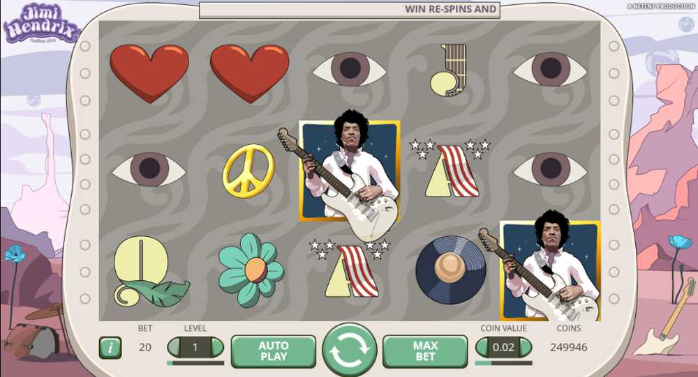 Jimi Hendrix Slot Now Available