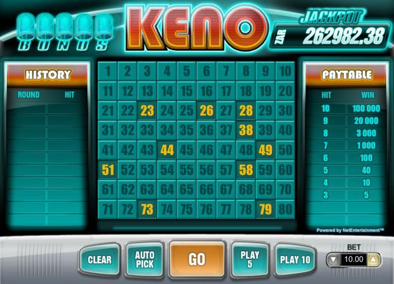 Bonus Keno Slot Review