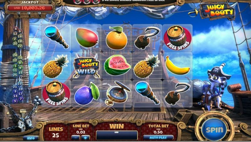 Play Juicy Booty Slots at Casino.com Canada