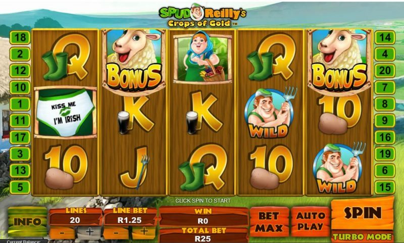 Spud O' Reilly's Crops of Gold Slot Review
