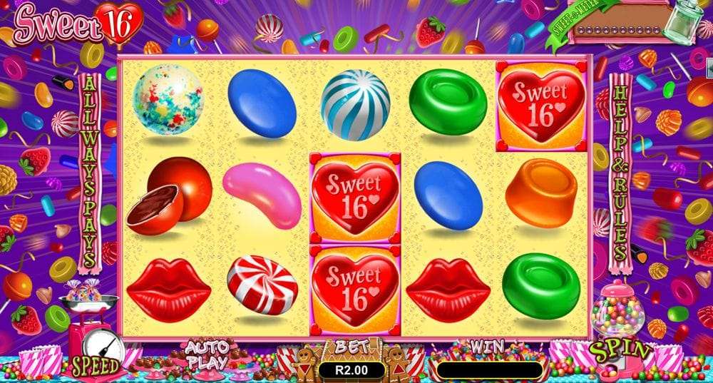 Sweet 16 Video Slot Created by Realtime Gaming