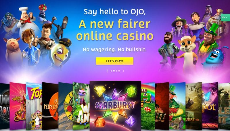 Tour PlayOJO; The Online Casino with No Wagering and Money Back on Spins