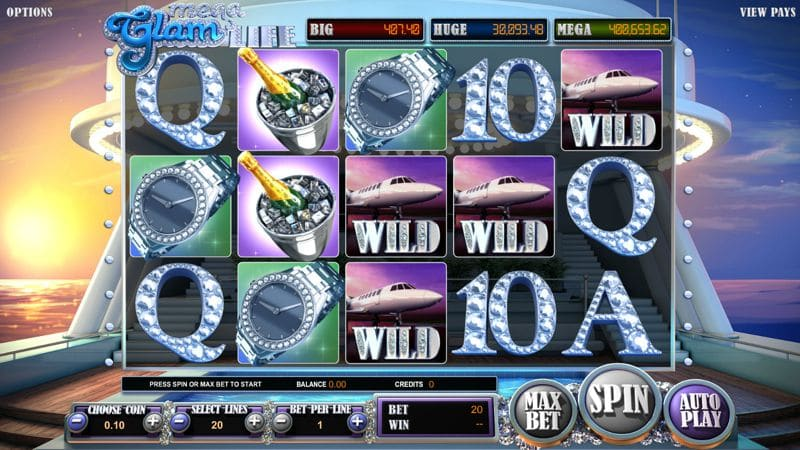Mega Glam Life Progressive Slot by BetSoft Gaming