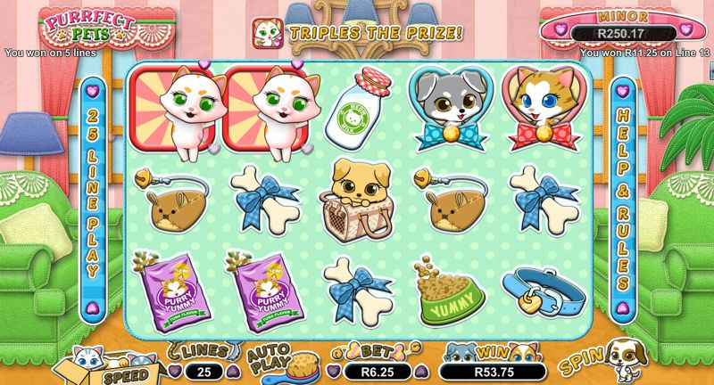 New Purrfect Pets Video Slot by RTG