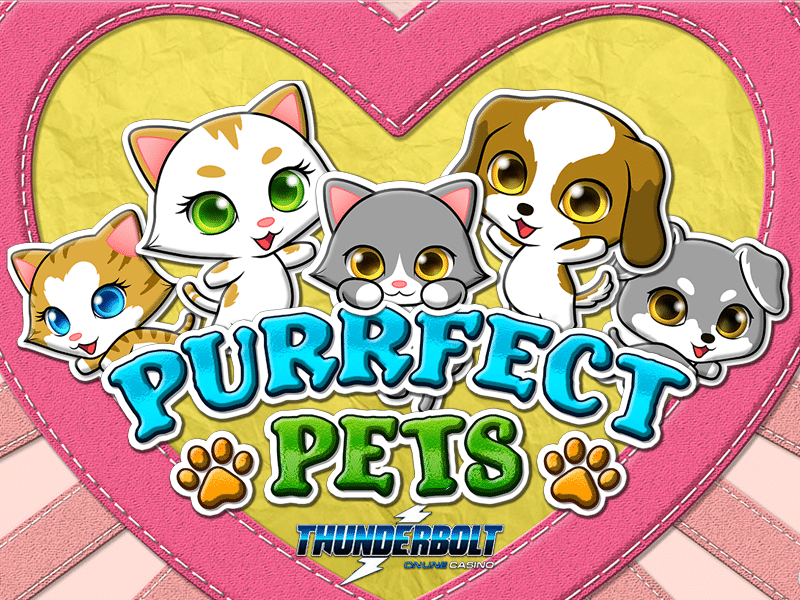 30 Free Spins on New Purrfect Pets Slot at Thunderbolt Casino