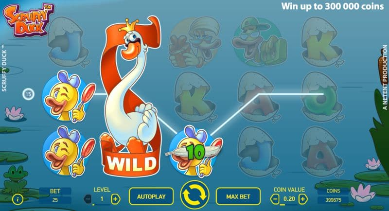 Scruffy Duck a New Video Slot Game by NetEnt