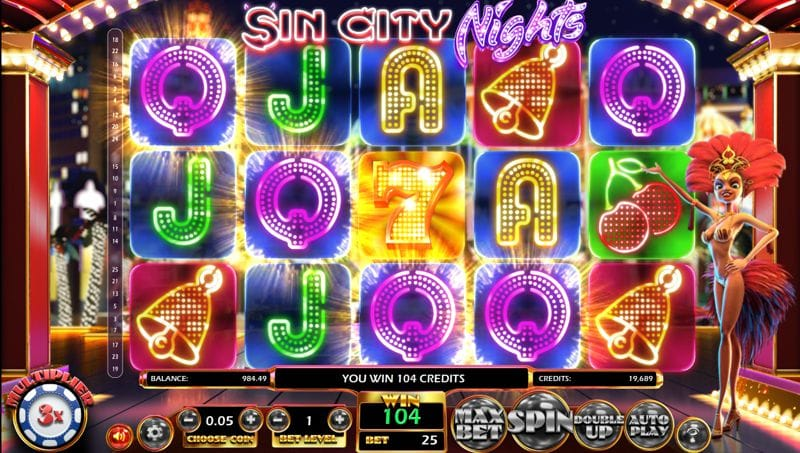 Sin City Nights Video Slot by BetSoft Gaming