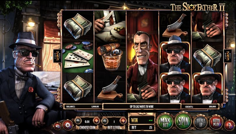 The SlotFather II Video Slot by BetSoft Gaming