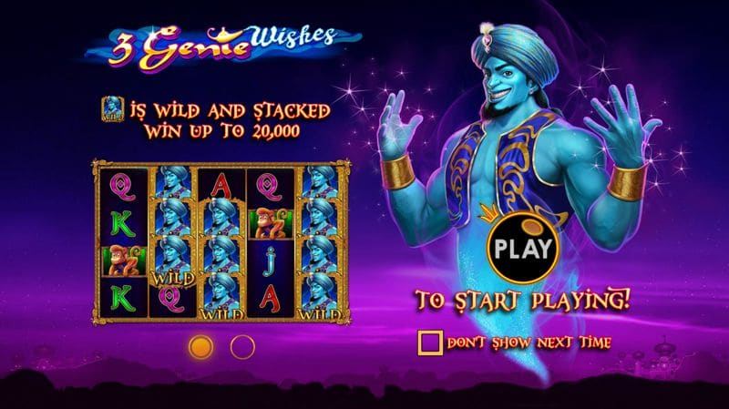 3 Genie Wishes Slot Game