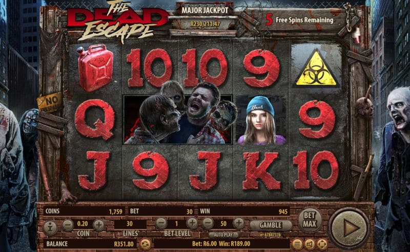 The Dead Escape Slot Games from Habanero