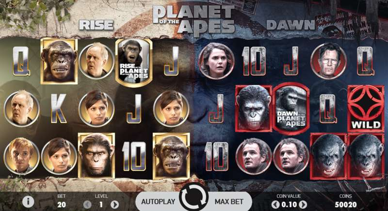 Planet of the Apes Dual Play Areas