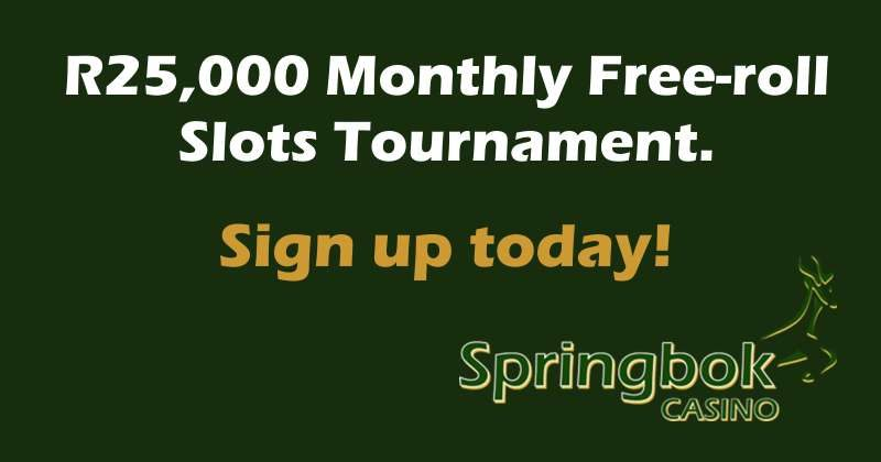 R25,000 Springbok Casino Slots Tournament