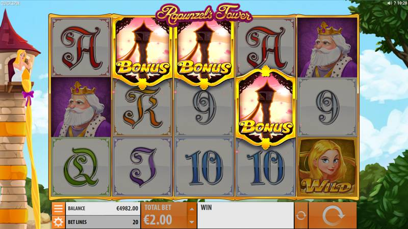 Rapunzel's Tower a New Slot Game from Quickspin