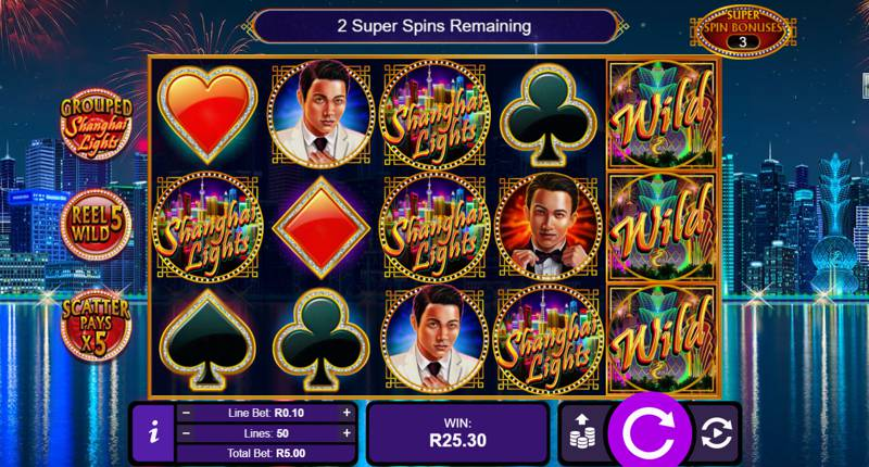 Thunderbolt Casino are Giving 20 Free Spins on Shanghai Lights Slot Game