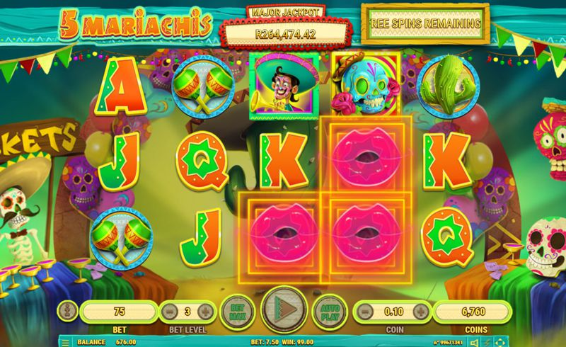 5 Mariachis Free Spins