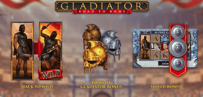 Gladiator – Road to Rome Slot Game from Playtech