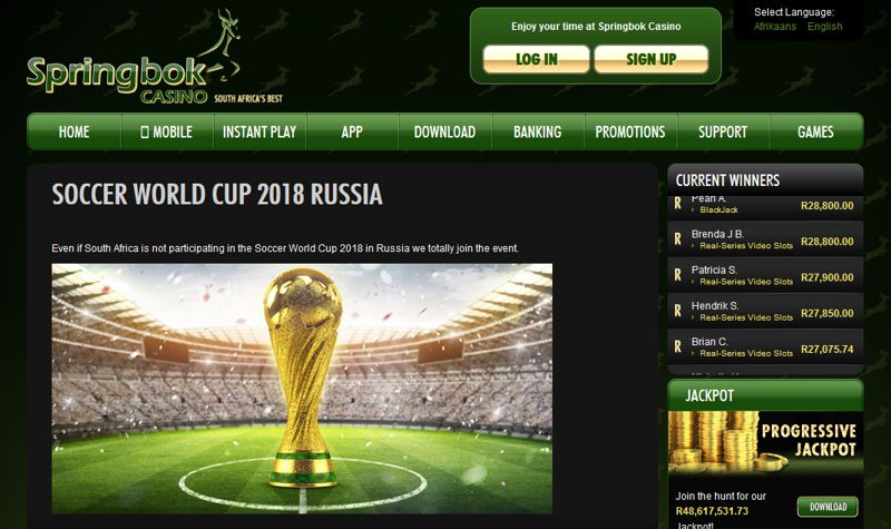 sSpringbok Casino Soccer World Cup Promotion