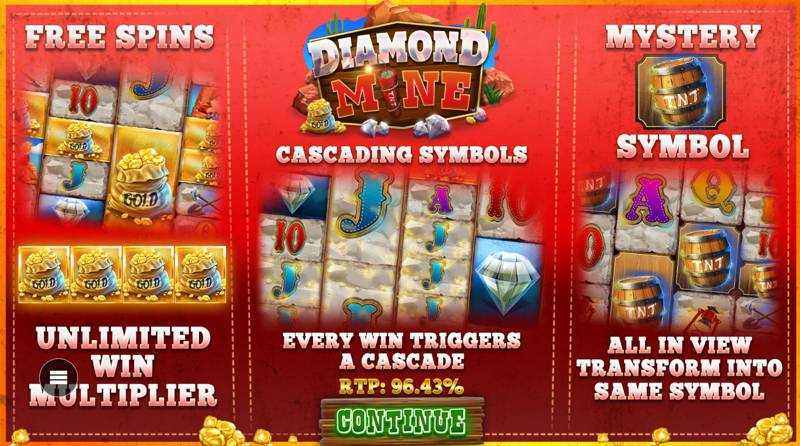 Diamond Mine Slot Features