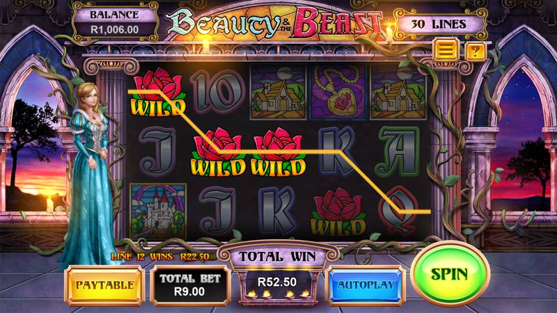 Beauty and the Beast Slot Release from Leander Gaming