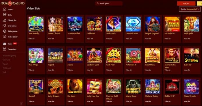 Box 24 Casino Games
