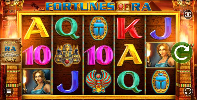 Fortunes of Ra is an Egyptian Themed Slot Game