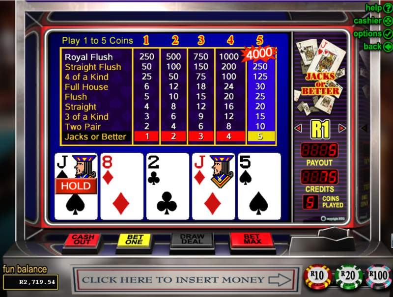 Video Poker Jacks or Better