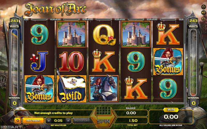 Joan of Arc Slot Game from GameArt