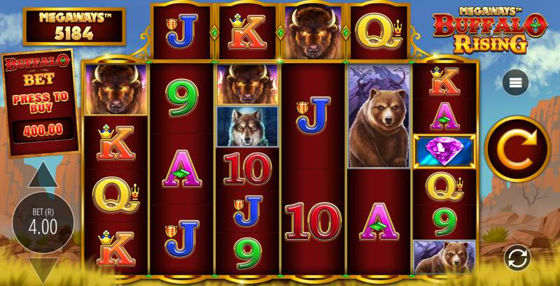 Buffalo Rising Slot Game Reels