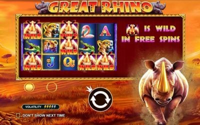 Great Rhino Slot Game is a Tribute to this Majestic Giant