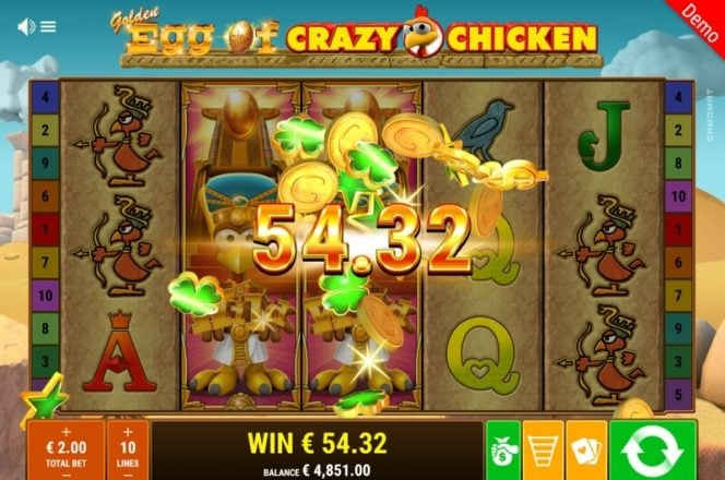 Golden Egg of Crazy Chicken Slot Game Win
