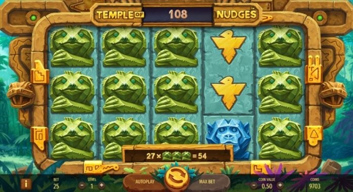 Temple of Nudges Video Slot Game