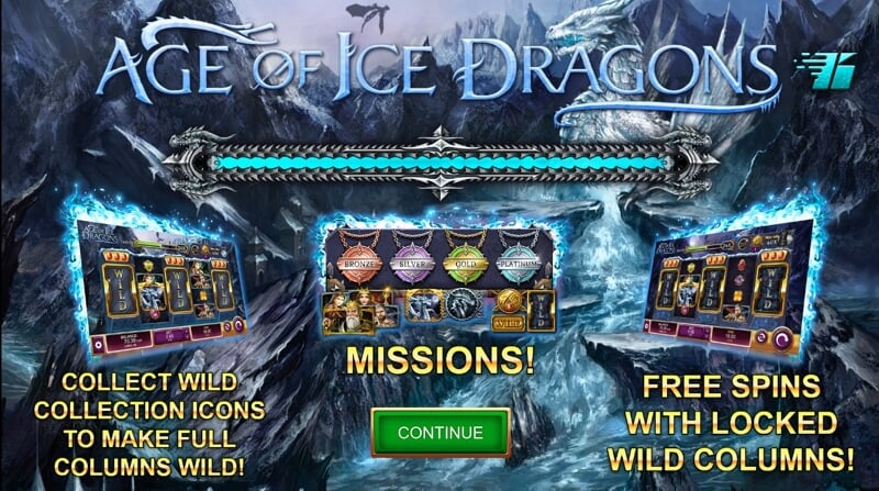 Age of Ice Dragons a Fantasy Themed Slot from Oryx Gaming
