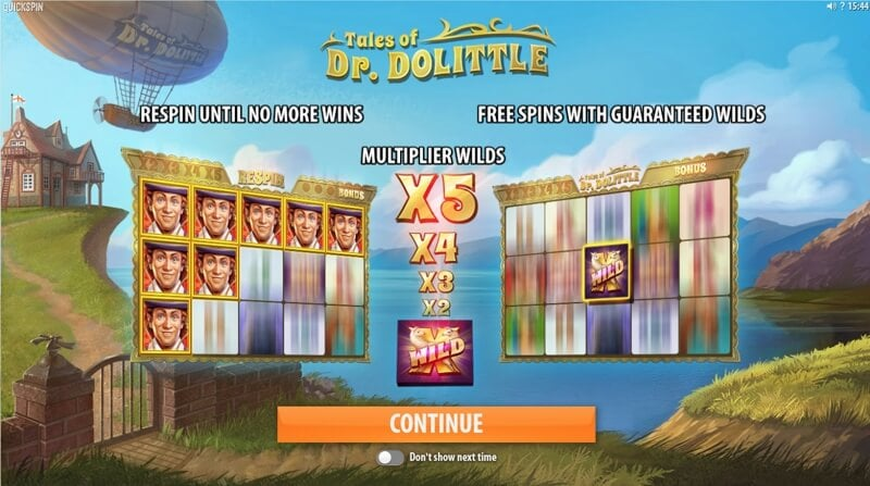 Tales of Dr. Dolittle is a Fun New Slot Game from Quickspin