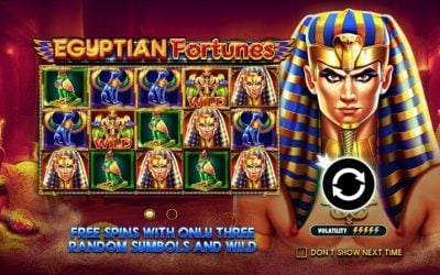 Egyptian Fortunes is a New Slot Game from Pragmatic Play