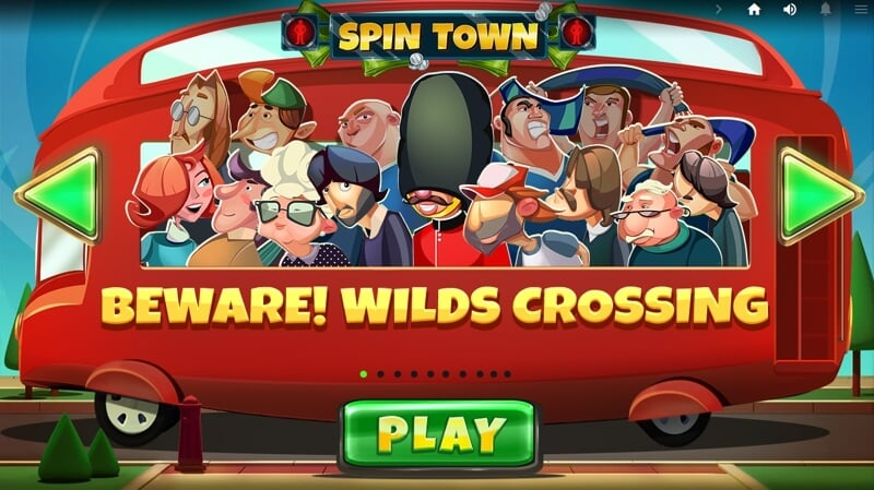Spin Town Slot game from Red Tiger is all about Zebra Crossings