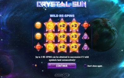 Crystal Sun is a Galactic New Slot Game from Play'n Go